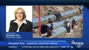 Elizabeth May say she's willing to go to jail over pipelines