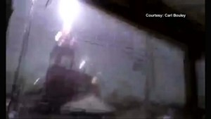 Incredible lightning strike caught on tape