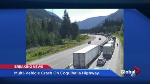 'Oh my god there's another accident': Motorist describes chaotic crash scene on B.C's Hwy 5