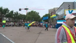 Edmontonians come out by the thousands to Pride Parade despite gloomy weather