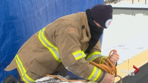 Lethbridge firefighters battled weather in efforts to raise money for muscular dystrophy