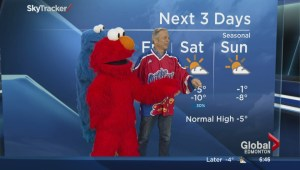 Sesame Street does the weather