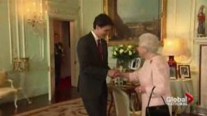 Justin Trudeau's meets Queen Elizabeth II