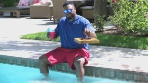 Is David Ortiz's autonomous flying snack tray in viral video real? Yes and no.