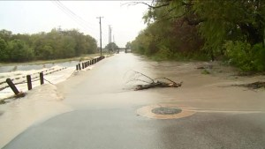 Heavy rain causing flash floods in Texas