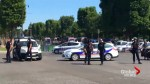 Car hits police vehicle on Paris' Champs Elysees