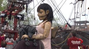 375: Montreal: Giant marionettes on display