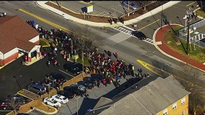 Raw video: Maryland courthouse evacuated after suspicious package