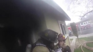 Firefighter wearing GoPro saves children from burning building