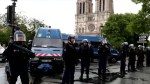 Police stop man wielding hammer outside Paris' Notre Dame