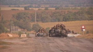 Ukrainian soldiers flee as rebels advance