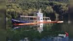 Jamie's Whaling vessel runs aground near Tofino