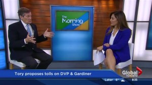 Mayor Tory talks toll roads live in studio