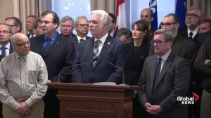 Quebec Premier Philippe Couillard: Words matter, but Quebec will not be divided
