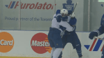 Exclusive video:  Maple Leafs' Phil Kessel and David Booth get into fight during practice