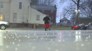 Rain, freezing temperatures turn portions of Indiana into virtual skating rinks