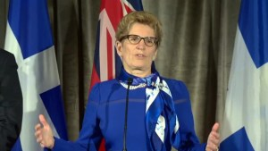 Wynne says that cooperation is key if Canada is to 'punch above it's weight' on the world stage