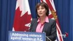 Premier Christy Clark launches domestic violence campaign