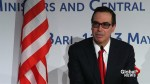 U.S. Treasury's Mnuchin says U.S. reserves right to be protectionist, re-negotiations underway over NAFTA