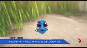 'Finding Dory' actor paid in chocolate