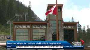 Banff Sunshine Village turned into wildfire staging area