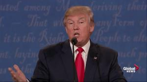 Presidential debate: Trump spars once again with moderator Chris Wallace over Aleppo