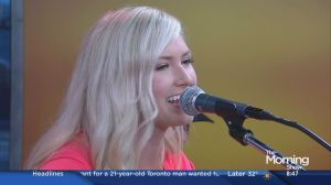 Country star Lindsay Broughton performs on the show