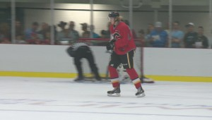 Flames prospects hit the ice for scrimmage