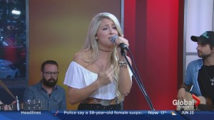 "Madeline Merlo performs her single ""War Paint"""