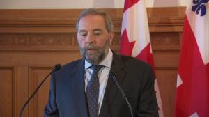Mulcair says NDP would 'never, under any circumstance' support a Harper government
