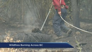 B.C. fires on the rise following long weekend