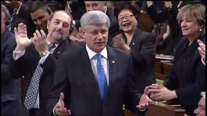 "Mulcair calls Harper's response ""idiotic"" after PM gets laughs at his expense"