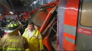 RAW: 2 metro trains crash in Mexico City
