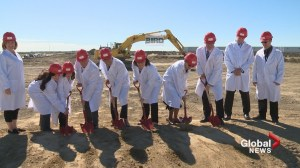 Ground breaking on Canadian Blood Services' 'house of heroes' in Calgary