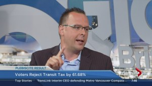 Jordan Bateman talks about transit plebiscite results