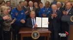 Buzz Aldrin joins Trump in signing of National Space Council revival executive order