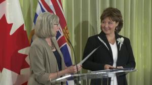 Christy Clark and cabinet ministers sworn-in today in Victoria