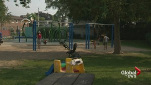 Parents rally against the city for removing toys from Gledhill Park