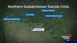 Premier Brad Wall visits northern Saskatchewan amid suicide crisis