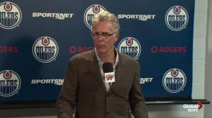 Oilers GM addresses goaltending issues