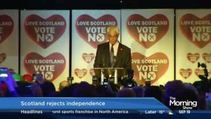 Scotland rejects independence