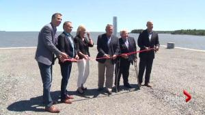 Spruce Lake Barge Facility officially opens