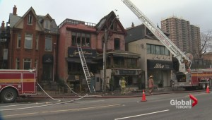 A Christmas Day fire has destroyed two restaurants in Yorkville