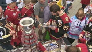 Warrior fans meet Fred Page Cup champs