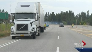 Semi hits and kills pedestrian in Summerland
