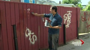 Toronto man on crusade to rid public spaces of graffiti