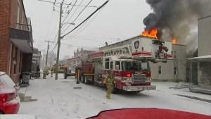 Fire ravages residential building in Saint-Jean-sur-Richelieu