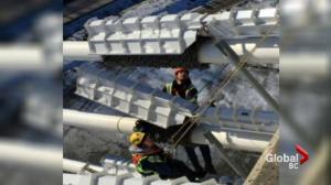 Ice bomb prevention on Metro Vancouver bridges