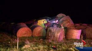 Driver killed in rollover near Balzac