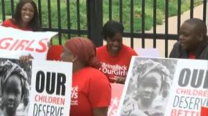 Raw video: #BringBackOurGirls supporters hold vigil outside US Nigerian embassy